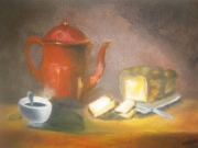 tableau nature morte cafe brioche nature morte : Café...