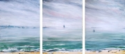 tableau paysages paysage abstrait impressionisme mer ambiance marine baie de bourgneuf : paysage mer huile